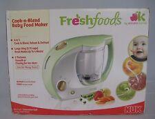 Freshfoods NUK Cook-n-Blend Baby Food Maker Steamer Blender Food Jar Warmer
