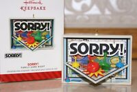 2014 Hallmark Keepsake Ornament Sorry Family Game Night, 1st In Series, Mint!