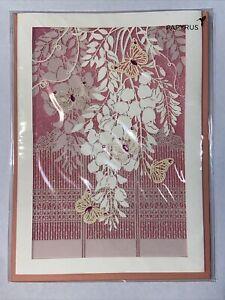 Papyrus Blank Card - Butterflies Cut Out