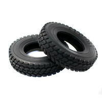 Hard Rubber Tires Tyres 4pcs For Tamiya 1:14 Tractor Truck Trailer Climbing Car