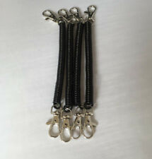 Black Tone Spiral Spring Coil Metal Keyring Key Chain Keychain Strap Clip Gift