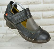 THE ART COMPANY Womens Leather Casual Heeled Shoes Comfort Heels Size 6 UK 39 EU