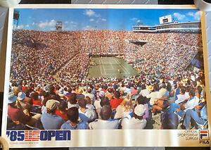 RARE! Vintage 1985 U.S. OPEN Fila Tennis Poster Ivan Lendl John McEnroe 19 x 27
