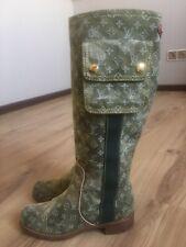 Authenic LOUIS VUITTON boots monogram camouflage color EU 36 (US 6)