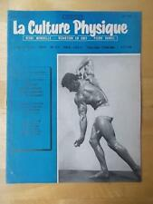 LA CULTURE PHYSIQUE bodybuilding muscle magazine/J L JEAN 12-58