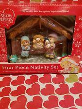 Precious Moments Four Piece Nativity Set New