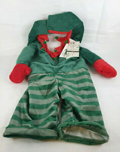 Winter Paws Dog Outfit Christmas Elf, Large Size, Green Red Colour, Funny Arms