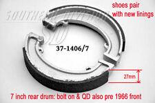Triumph Bremsbeläge brake shoes W1406 W1407 37-1406/7 W93 41-6073 NW243 37-0093