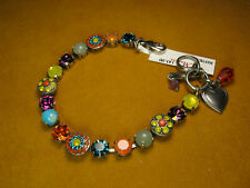 MARIANA BRACELET SWAROVSKI CRYSTALS MOSAIC BLUE YELLOW PURPLE MULTI Flower Gift