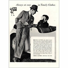 1937 Timely Clothes: Always At Ease Vintage Print Ad