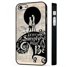 Nightmare Before Chirstmas Book Art BLACK PHONE CASE COVER fits iPHONE