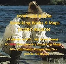 CD - NSW Gold Dubbo Region 20 eBooks - 36 FREE Forestry Fossicking Maps