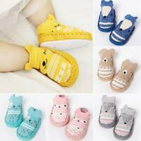 Toddler Non-Slip Boot Socks Kid Baby Cartoon Winter Warm Shoes Anti-slip Slipper