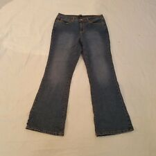 Jeanstar Women Jeans Size 12P Denim Blue STRETCH Embroidered Boot Cut