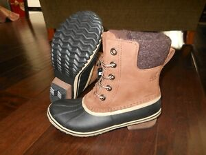 SOREL SLIMPACK LACE II Waterproof Leather Boots Size 6 US 37 EUR Burro NL3058282