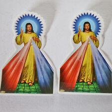 Aufkleber Sticker 2 x JESUS -  Indien Goa Hippie God-Stickers 9 x 6 cm, 68