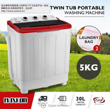 5KG Twin Spin Washing Machine Portable Top Load Washer Dryer Wash & Spin Tub
