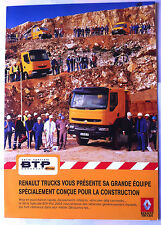 Brochure Commercial Renault Trucks Série Spécial BTP pro, Master, Mascott, Kerax