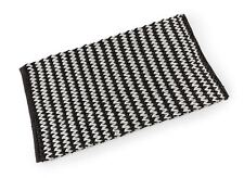 Chain Single Cotton Bath Mat 50 x 80cm - Black and White
