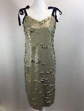 New JCREW COLLECTION Tie-shoulder Sequin Dress 2 G5352 Desert Canyon SU17 $298