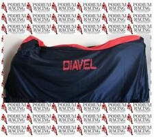 DUCATI DIAVEL INDOOR BIKE COVER CUSTOM FITTED WITH SOFT LINING BLACK & RED TOP