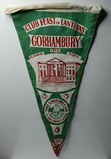 "British camping club  Feast of Lanterns 1956 Gorhambury St Albans pennant 12"""
