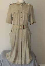 vtg Military Style Dress WOMEN'S 12 Polyester Rayon The East Custom Collection