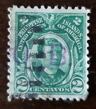 Philippines stamp Hand stamp OB on 2 centavos. Used