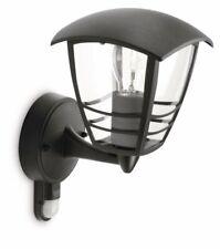 Philips Luz de la Pared Exterior Iluminación De Jardín Con Sensor De Movimiento Metal Negro Nuevo