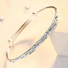 hot 925 Silver women cute lady Bangle bracelet fashion charm jewelry wedding