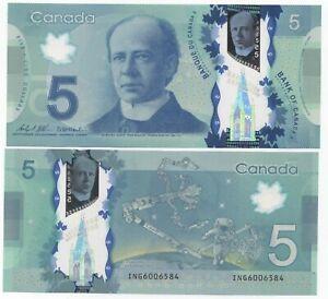 """Canada 5 Dollars 2013 (2020) AU/UNC """"ING"""" Wilkins-Macklem"""