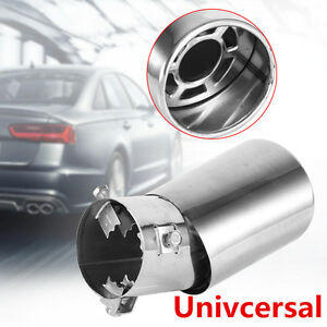 61mm Universal Rear Round Stainless Steel Auto Exhaust Tailpipe Muffler End Tip
