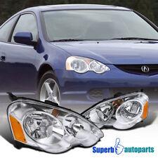 2002-2004 Acura RSX Diamond JDM Headlights Head Lamps Chrome/ Clear