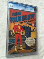 Don Winslow of the Navy #1 CGC 5.5 Feb 1943 & FREE reader & full color Photocopy
