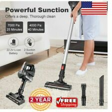 Bagless Cordless Stick Vacuum Cleaner 3 Different Brushes Wall-Mount 22.2V 7Kpa