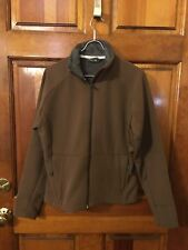 EUC Women's Salomon Tan with Gray Fleece Lined Jacket Size Medium
