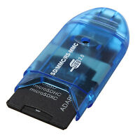 1* USB 2.0 Memory Card Reader Writer Adapter for SD MMC SDHC TF Card UP To 64GB