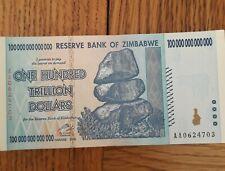 ZIMBABWE  ONE HUNDRAED TRILLION DOLLARS.BANK NOTES