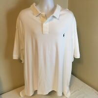 Polo Ralph Lauren Mens White Short Sleeve Polo Shirt 3XB XXXB Free Shipping!