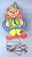 Vintage Wood Clown Wall Clock--Western Germany