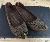 Antique 19th century Persian slippers, shoes
