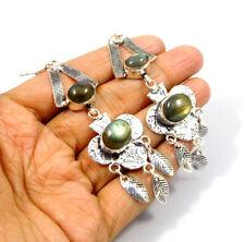 Handmade Earring Jewelry Jc9456 Labradorite .925 Silver Plated