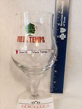 VINTAGE BELGIAN Beer Glass VIEUX TEMPS