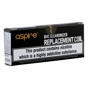 Aspire BVC Coils Dual Replacement Coil Heads 1.6, 1.8 OHM, K2, ETS, K1, CE5, BDC
