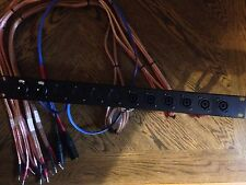 audio patch bay , Stereo 3-way, Rackmount, Amplifier , Patchbay , Xlr , Speakon