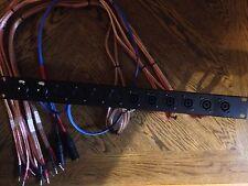 audio patch bay , Stereo 3-way, Rackmount, Amplifier , Patchbay , Xlr , Speakon