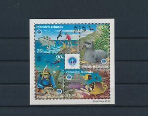LO41274 Pitcairn Island fish shell coral sealife good sheet MNH