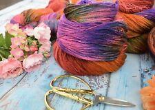 """Hand Dyed  """"Hello Parker"""" Luxury Silk Blend   Knitting Yarn X 1 Skein"""