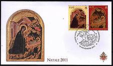 Vatikan 2011 FDC Satz Nr.1728 - 1729 Weihnachten