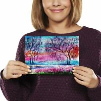 A5 - Pretty Tree Painting Art Print 21x14.8cm 280gsm #2332